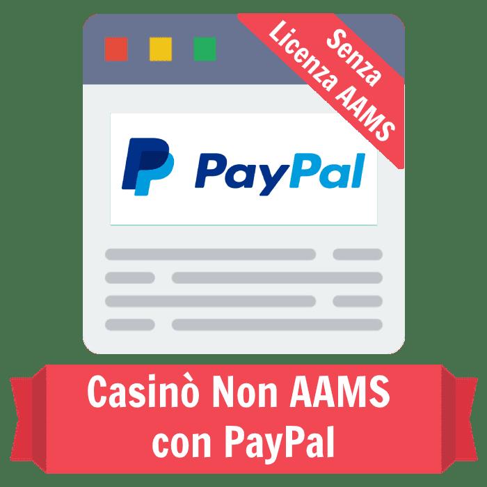 casinò non AAMS con PayPal