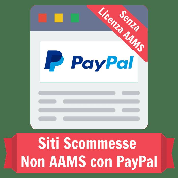siti scommesse non AAMS con PayPal