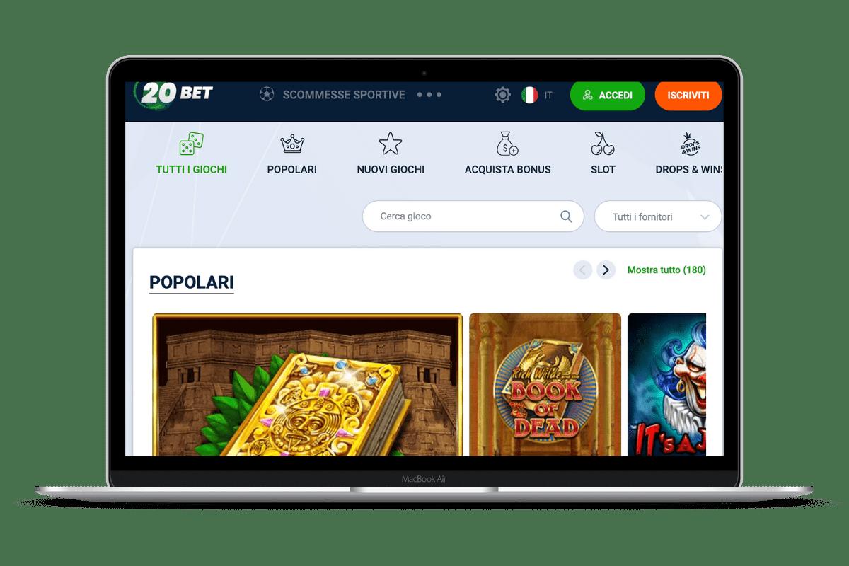 20Bet Casino: Giochi e Bonus