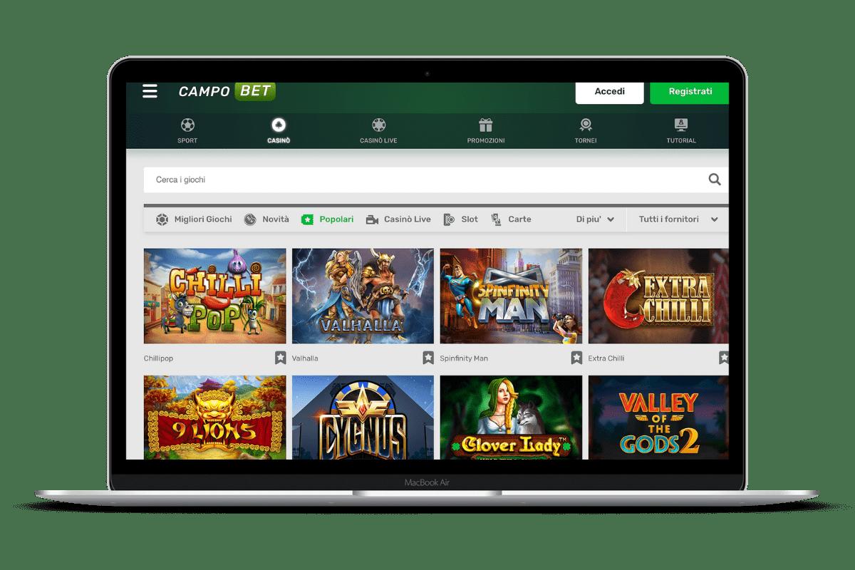 CampoBet Casino: Giochi e Bonus