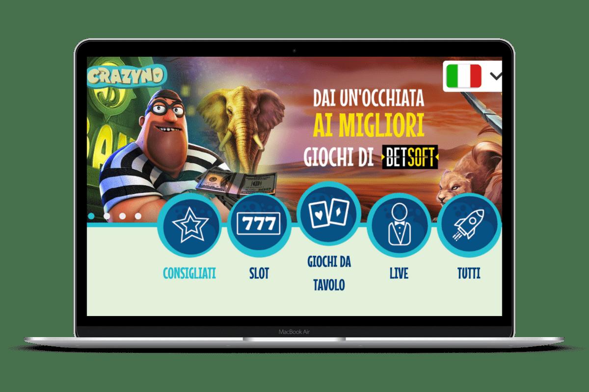 Crazyno Casino: Giochi e Bonus
