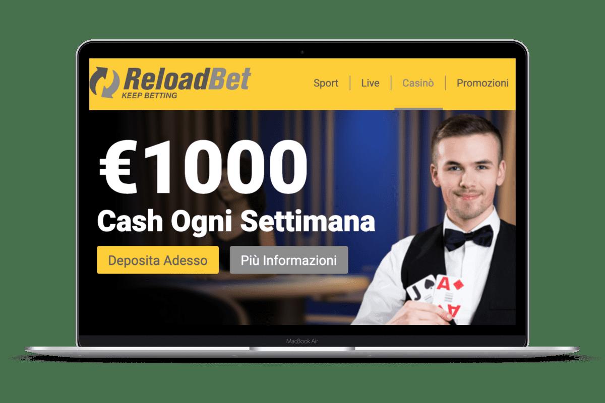 ReloadBet Casino: Giochi e Bonus