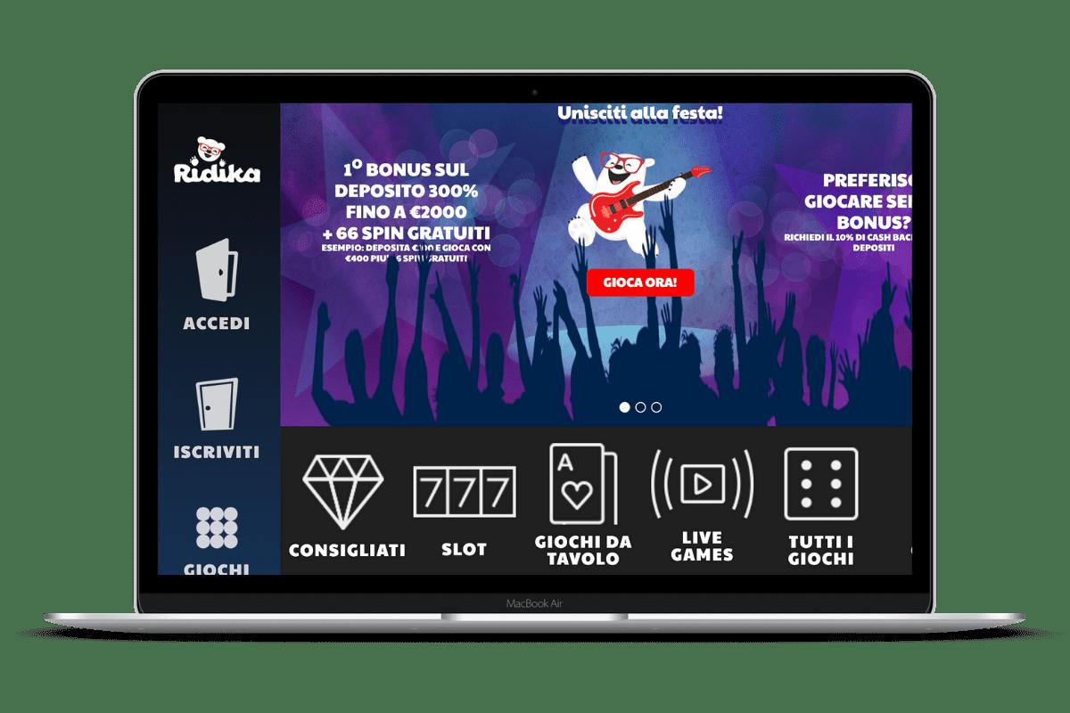 Ridika Casino: Giochi e Bonus