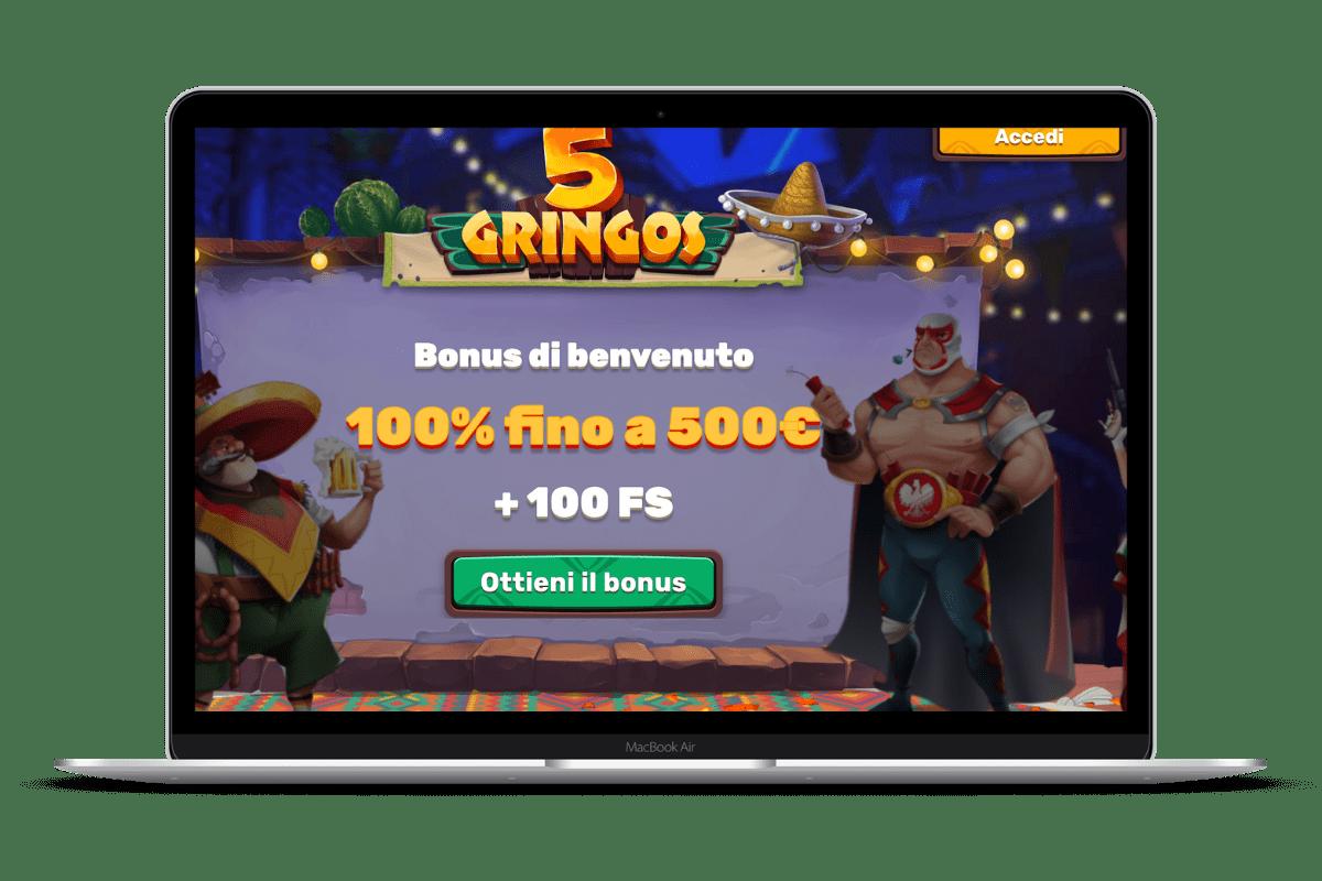 5Gringos Casino: Giochi e Bonus